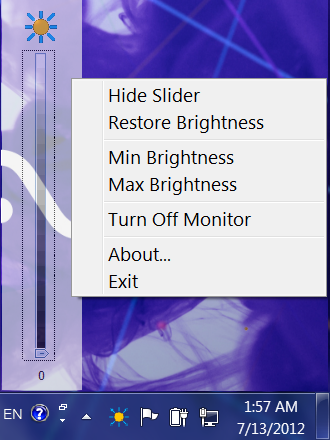 Laptop Brightness for Windows 8, Windows 7, Windows Vista, Windows XP