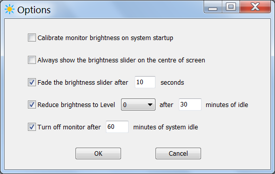 Adjust Brightness Options for Laptop